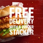 Free KFC Delivery with Zinger Stacker Burger Purchase @ KFC App / DoorDash