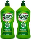 Morning Fresh Super Concentrate Dishwashing Liquid Lime Fresh 900mL x 2 Bottles $6 + Delivery (Free w/ Catch Club) @ Catch