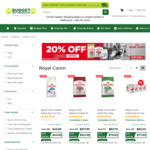 Royal Canin Dog/Cat Food Products 20% off + Delivery ($0 to Most Areas with $49 Order) @ Budget Pet Products