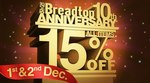Breadtop All Items 15% off! (Conditions Applied, Ask in Store for Details)