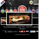 Domino's 3 Large Traditional or Value Pizzas + Garlic Bread + 1.5L Drink Delivered for $25
