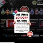 Domino's Pizza - Half Price on Premium, Chef Best, Traditional and Value Range Pizza (TODAYONLY)