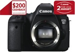 Canon 6D (Australian Stock Body Only) for $1614.15 + $2 Delivery (Eligible for $200 Cashback)