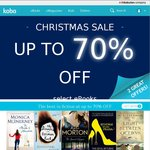 Kobo Christmas Sale up to 70% off Plus Additional 50% off for Selected Items