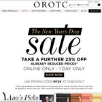 Oroton Extra 25% off Online Store - Achieve a Saving of 70%+ on Outlet Stock + $14.95 Shipping
