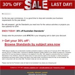 SAI Global 30% off All Australian Standards