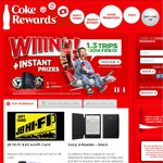 Coke Rewards - JB Hi-Fi Gift Card 1000 for $50, 600 for $30, 400 for $20, 200 for $10