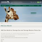 2-for-1 Entry @ Taronga Zoo / Taronga Western Plains Zoo / Melbourne Zoo in September [ANZ Cardholders]