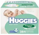 Huggies Baby Wipes Mega Pack (384 Wipes) $14.95 @ Baby Bunting