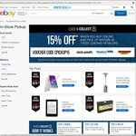 15% off Click and Collect Via eBay - Super Cheap Auto, Masters, Dick Smith