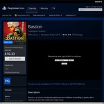 Bastion PS4 $5.74 PS Plus Required
