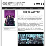 Free Advanced Screening of Suffragette by ShowFilmFirst [VIC, NSW, WA, QLD, SA, TAS, ACT]