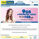 Unlimited^ Talk, Text PLUS 9GB Data for Only $48/Month @ TeleChoice (Minimum $576 over 12M)
