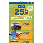 BCF - 25% off Camping for BCF Club Members (Couple with AmEx Offer for up to 40% off)