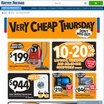 Harvey Norman - 'Very Cheap Thursday' One Day Deals: 12% off Sony TV's, 10-12% off Laptops/Desktops, 50% off Rugs etc