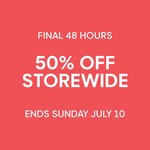 GANT 50% off In Store Storewide (48 Hours Only, Ends 10th July)