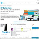 HP's Closeout, Overstock and Refurbished Products. Desktops and All in Ones from $239 to $499