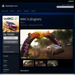 PS4 WRC 6 Digital Game Rp79,000 ~ Equal to $8 AUD (Indonesia Store)