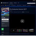 Pro Evolution Soccer 2017 $14.95 (PS4) on PlayStation Store (Weekly Deal)