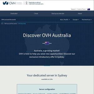 OVH Australia Dedicated Server - Xeon E3-1245v5 - 32GB DDR4