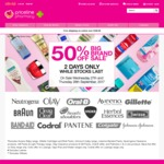 50% off Sale @ Priceline Eg Codral Lozenges $2.50 Selected Johnson & Johnson, Procter & Gamble, Colgate-Palmolive 27 & 28 Sept