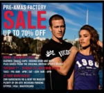 Lonsdale Pre-Xmas Factory Sale - UP TO 70% OFF!