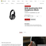 BOSE QuietComfort 35 II Headphones $399.95 @ Microsoft Store ($300 @ Harvey Norman after Price Match + 5c Item & $100 AmEx Deal)