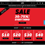 30% to 75% off Everything at Yd