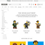 25% off All LEGO @ Myer (Stacks with ANNIVERSARY $10/$15/$20 Codes or eBay 5% Code, PLUS Free LEGO Dog with $88 Spend)