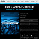 Free 1 Month Pass @ Goodlife Health Clubs