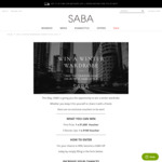 Win a $1,000 or 1 of 5 $100 Gift Cards from SABA