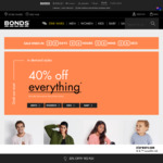 40% off Everything @ Bonds (E.g. Crew Tee $15, Fleece Tracky $32.97)
