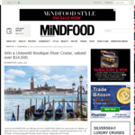Win a Uniworld Venice & The Gems of Northern Italy Cruise for 2 Worth $14,798 from MiNDFOOD