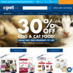 30% off Cat and Dog Food Online (Ivory Coat Turkey and Duck 13kg for $77 Delivered) Free Metro Delivery >$25 @ PETstock