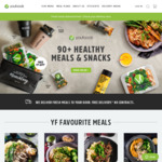 Youfoodz 5 Meals for $29.85 + Gift (Min Spend $49)