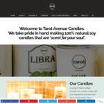 50% off Scented Soy Candles @ Tarot Avenue