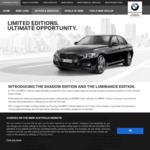 BMW 320i / 330i Shadow (M-Sport) or Luminance (Luxury) Edition. $58,800 / $67,900 Drive Away