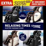 20% off Livemor Premium Electric Massage Chairs Belmue $879.20 (Was $1,099) Delmue Chair $959.20 (Was $1,199) @Ozplaza eBay