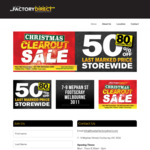 [VIC] 50% off Already Reduced Prices of Various Kitchenware Items and AFL Official Items @ Five Star Factory Direct