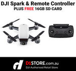 DJI Spark with Remote Controller and 16GB SD Card $475.15 Delivered @ D1store eBay