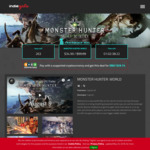 [PC] Steam - Monster Hunter: World (USD $34.99 / AUD $48.40) (AUD $41.44 with BTC) @ Indiegala