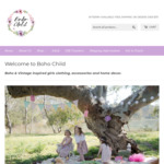 [VIC] 60% off Selected Collections - Girl's Clothing & Accessories (Excludes Sale Items & Gift Vouchers) @ BOHO CHILD (Carrum)