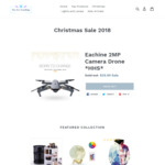 Christmas Sale: Eachine 2MP Camera Drone AUD $42 (USD $29.99) @ New Era Trendings