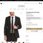 100% Wool/Wool Blend/Cotton Blend Suit Jacket $63.20 (Was $549-$449), Goose Down/Feather Vest $39.20 (Was $269) @ SABA