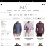 Men's Shirts $29 (Normally $129), Women's Tops $49 @ SABA (Online/Some Stores)