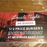 [VIC] Half-Price Burgers @ Mr Burger, Bentleigh (Local Residents Only)