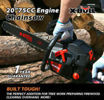 """X-BULL 75cc Petrol Commercial Chainsaw 20"""" Bar Chain Saw E-Start Pruning $108.00 Delivered @ Eastbay Auto eBay"""