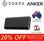 Anker PowerCore 20100mAh 2 Port USB Power Bank $60.76 Delivered @ SOBRE eBay Store