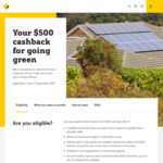 $500 Cashback if You Have 5kw or More Solar Panels, CBA Home Loan (Balance $50,000+) & CBA Transaction Account @ CommBank