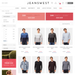 $20 Shirts and Knits (Free Shipping over $75) @ Jeanswest